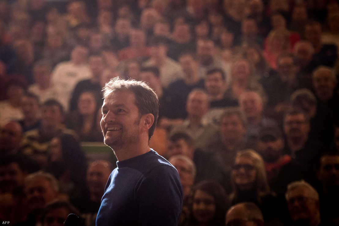 Igor Matovič, az OLaNO vezetője egy február 14-i kampánygyűlésen