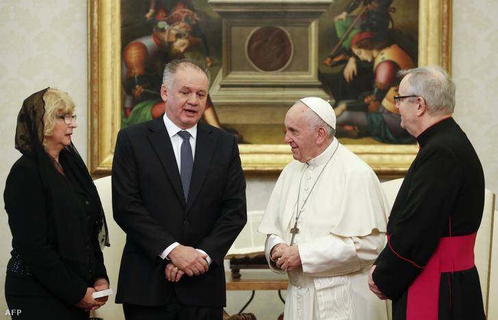 Andrej Kiska pápai audiencián, a Vatikánban, 2018. december 14-én