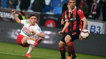 A Diósgyőr kiütötte a meccset kilenc játékossal befejező Honvédot