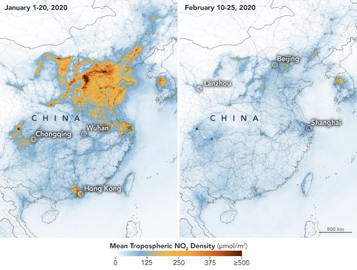Egy hónap alatt látványosan csökkent a légszennyezés mértéke.