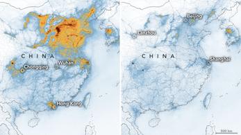 A gyárak leállása és a karantén miatt drámaian csökkent a légszennyezettség Kínában