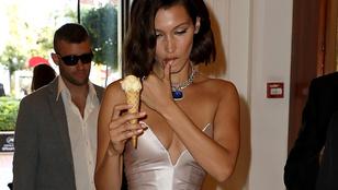 Bella Hadid ismét bizonyította, hogy a modellek is szoktak enni