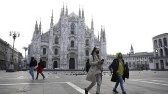 Üres a milánói dóm nagyböjt első vasárnapján