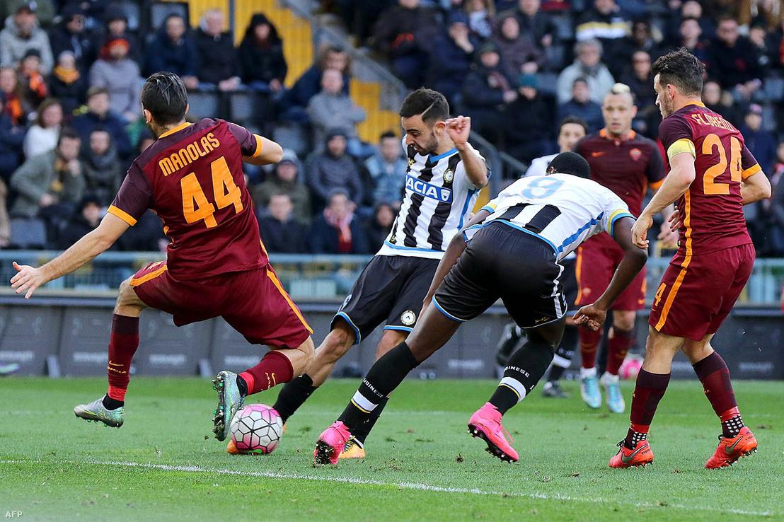 Bruno Fernandes az Udinese színeiben gólt lő 2016. március 13-án Udinében az AS Roma ellen.