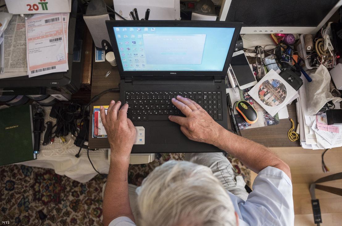 Képünk illusztráció! Internetet használó nagyszülőknek is jól jöhet az azonnali fizetés