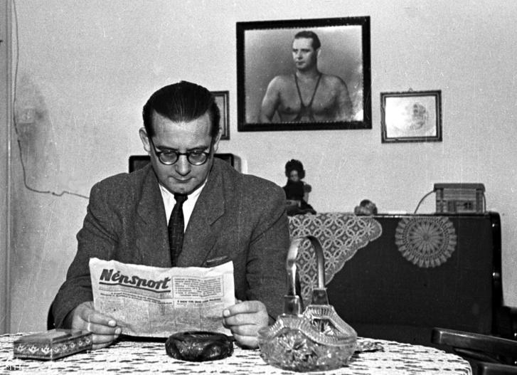 Bóbis Gyula otthonában 1951-ben
