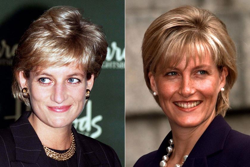 Zsófia grófné tiszta Diana hercegnő - Fiatalkori képeiken így hasonlítottak