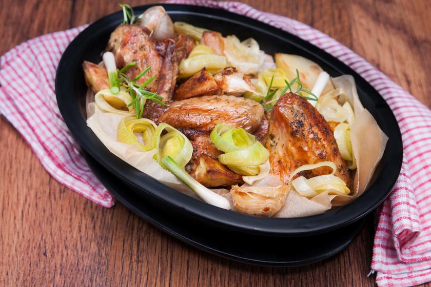 Omlós, szaftos csirkeszárny rengeteg hagymával: laktató fogás egy órán belül