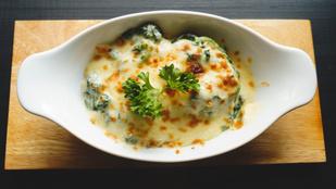 Ebbe rejtsd el a spenótot! Spenótos-füstölt sajtos lasagne