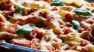 Lasagne vega, zöldséges változatban: gombával és parmezánnal