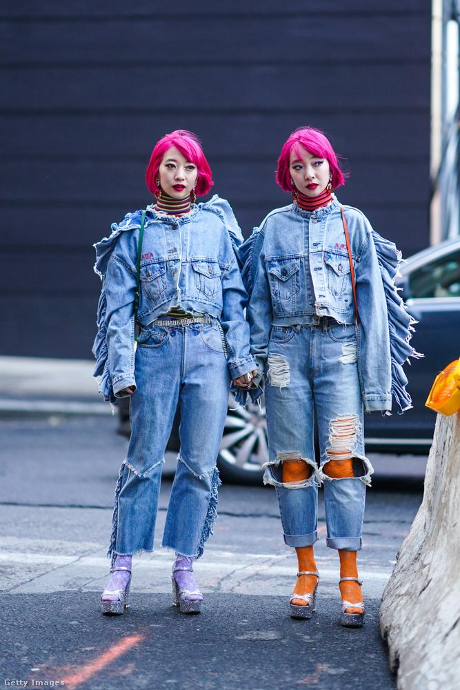 Ezen a képen és a következő tizennégyen Suzuki Ami és Suzuki Aya láthatók, akik egy japán ikerpár