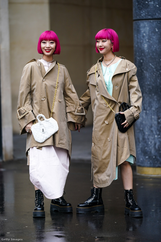 Az ember azt hinné, hogy a pink hajhoz csupapink ruhákat választanak, mostanában ez nagyon menő.