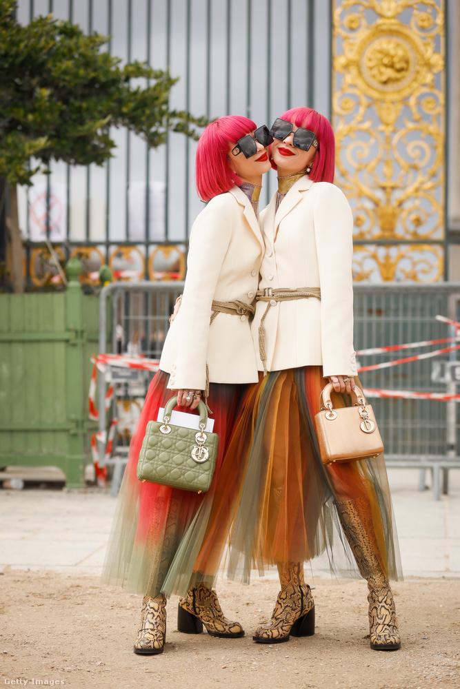 A Dior bemutatójára természetesen Diorban mentek.