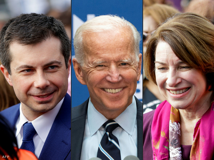 Pete Buttigieg, Joe Biden, Amy Klobuchar