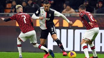 A koronavírus miatt elmarad a szerdai Juve-Milan kupaelődöntő
