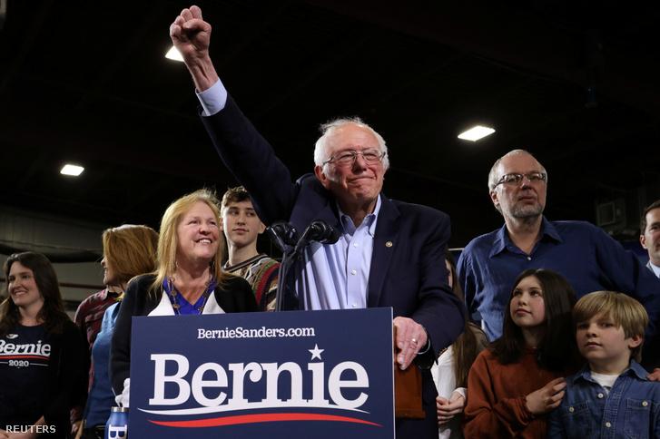 Bernie Sanders essexi beszéde közben