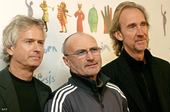 Tony Banks, Phil Collins és Mike Rutherford 2006-ban.