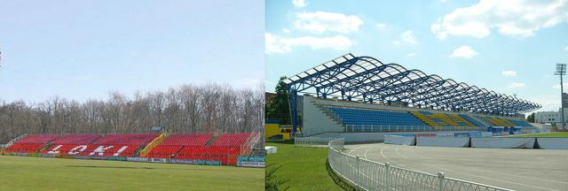 Az Oláh Gábor utcai pálya és a Haradszki stadion