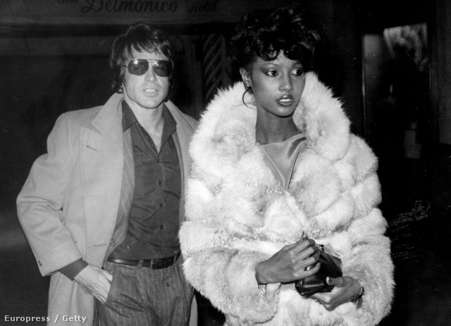 Iman és Warren Beatty 1977-ben