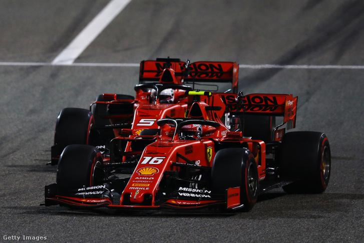 Charles Leclerc és Sebastian Vettel a 2019-es bahreini nagydíjon