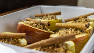 Zabpelyhes sült alma: az egész család imádni fogja