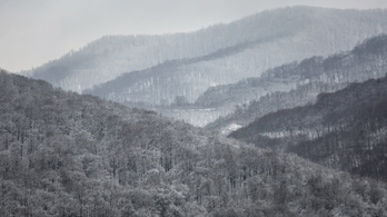 Zuhog a hó Dobogókőnél