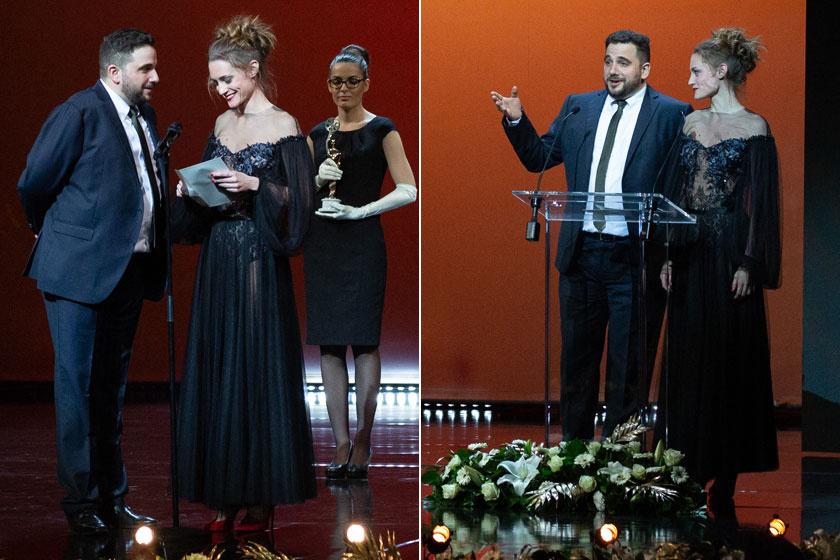 Sztarenki Dóra Spáh Dáviddal adott át díjat az 5. Magyar Filmdíj-gálán