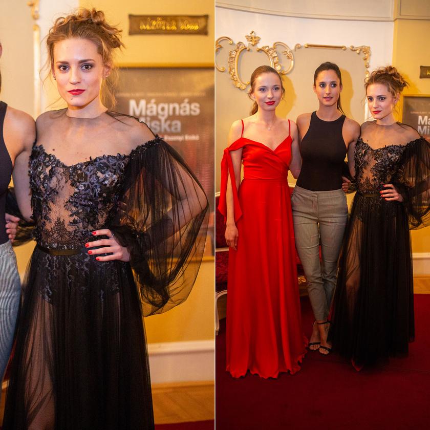 Sztarenki Dóra Dobos Evelin színésznő-műsorvezetővel és Trokán Nóra színésznővel.