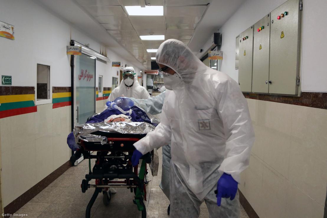 Koronavírussal fertőzött beteg egy iráni kórházban 2020 március 3-án