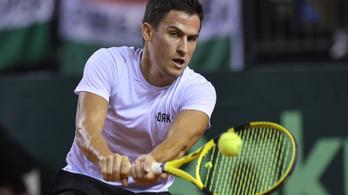 Balázs nagy csatában kikapott, a belgák vezetnek a Davis-kupa-meccsen
