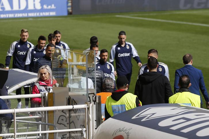 A Parma–SPAL-meccs 75 perces csúszással indult a koronavírusos huzavona miatt