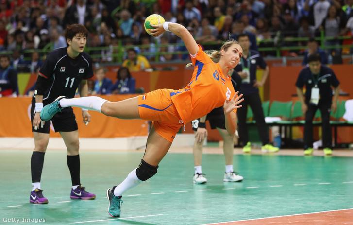 Laura van der Heijden a 2016-os olimpián a holland válogatottban