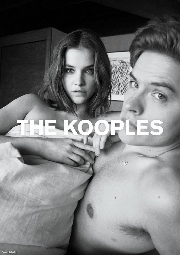 Palvin Barbara és párja ezúttal a francia The Kooples felkérésére mondott igent, és pózolnak együtt néhány fekete-fehér képen