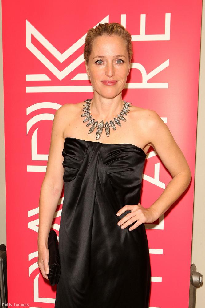 Gillian Andersont egykor a saját 21 éves lánya állította meg az ajtóban, hogy biztos-e abban az outfitben, amit ezen a fotón visel.