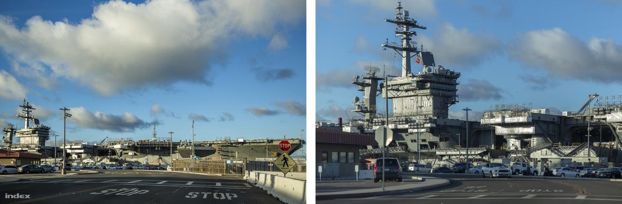 Sikerült szpottolni a USS Theodore Roosevelt (CVN-71), 1986 óta szolgálatban lévő Nimitz-osztályú, nukleáris meghajtású repülőgéphordozót is.