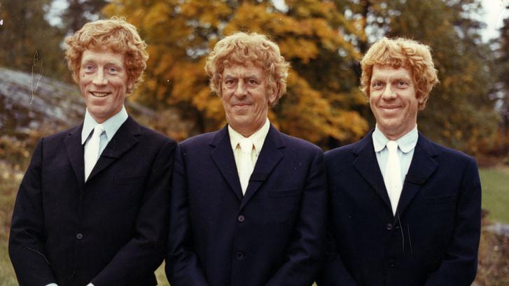 Max von Sydow, Tage Danielsson, és Martin Ljung az Äppelkriget c. filmben (1971)