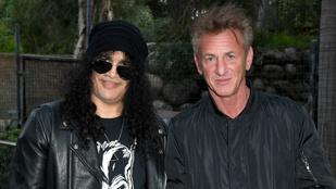 A nap képe: Slash találkozott Sean Pennel az állatkertben