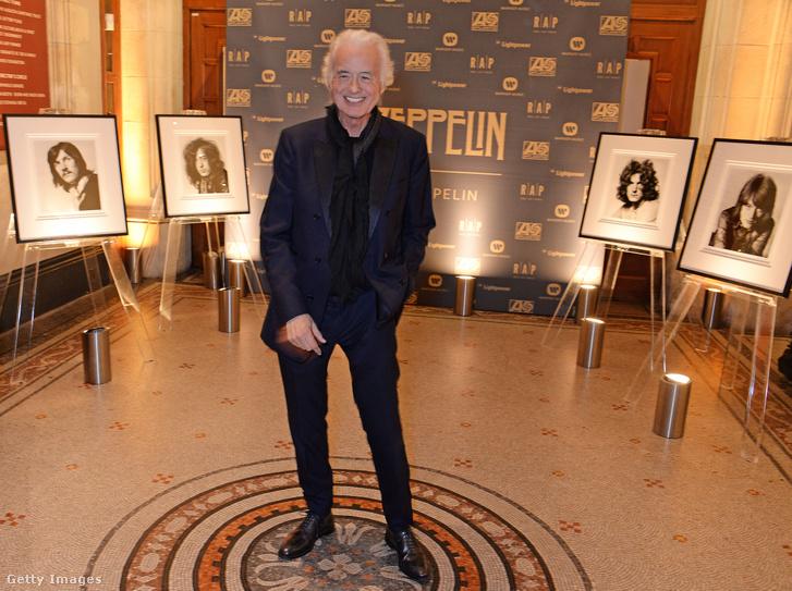 Jimmy Page az 50 éves Led Zeppelinről szóló könyv bemutatóján 2018-ban
