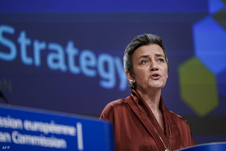 Margrethe Vestager uniós biztos bemutatja az új európai ipari stratégiát