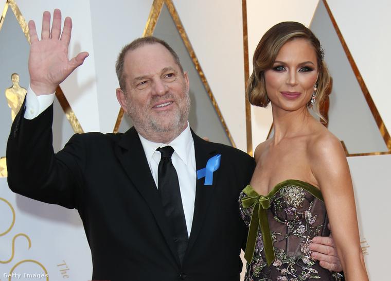 Harvey Weinstein és Georgina Chapman a 2017-es Oscar-gálán.