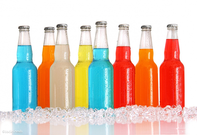 stockfresh 1054273 bottles-of-multi-color-drinks-with-ice-on-whi