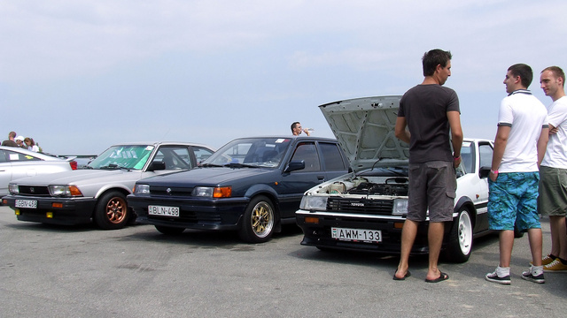 Autóipari történelemóra: Toyota Corolla AE 86, Nissan Sunny B12 és egy második generációs Honda Accord coupé