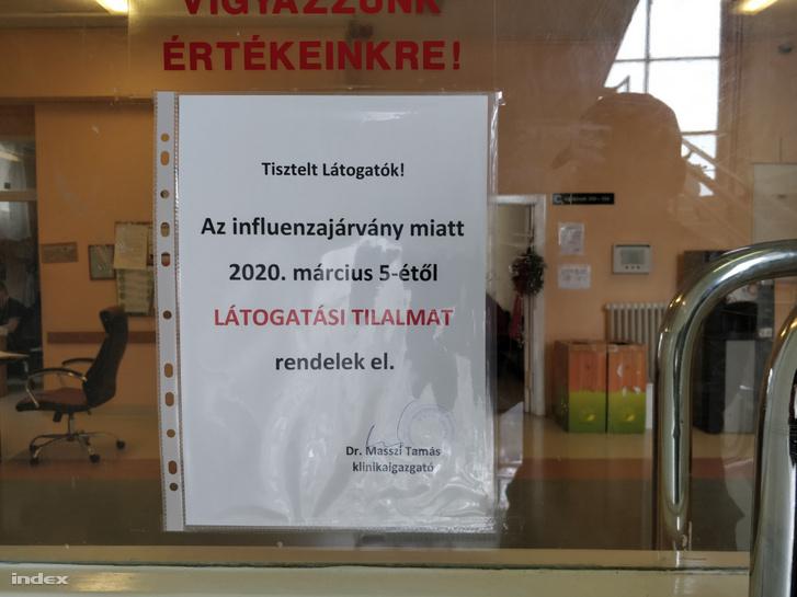 Látogatási tilalom a Kútvölgyi kórházban