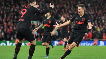BL: az Atlético történelmi estéje, hosszabbításban fordított 0-2-ről, Liverpoolban