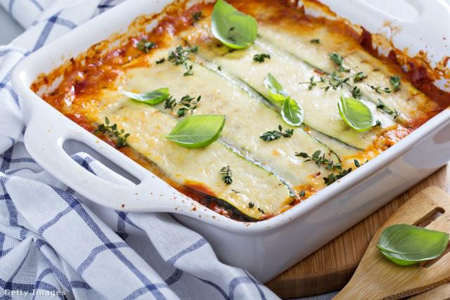 Lasagne diétás verzióban, glutén- és tojásmentesen.