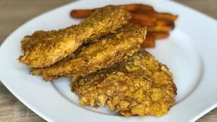 Gluténmentes rántott csirkemell tortillacsipszbundában