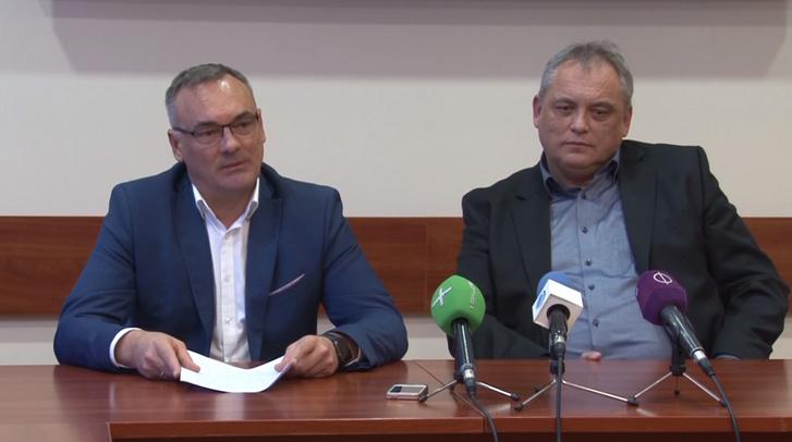 Borkai Zsolt és Mányi József 2017-ben az új tulajdonos bejelentésekor