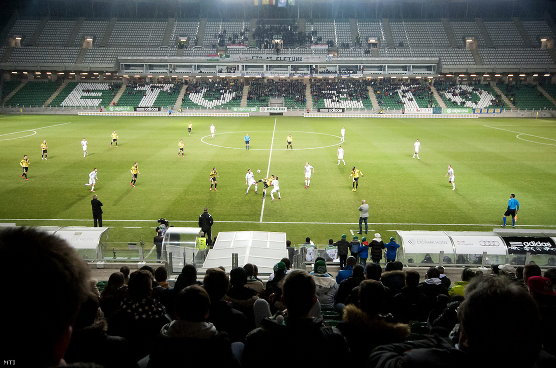 A Győri ETO FC - Lombard Pápa Termál FC mérkőzés a győri ETO Park Stadionban