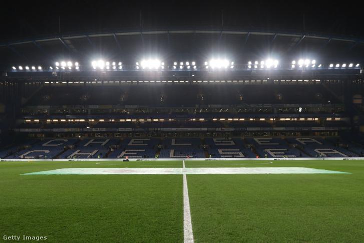 Stadion a Chelsea - Arsenal mérkőzésen 2020. január 21-én