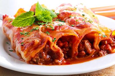 Zöldséges-húsos raguval töltött cannelloni - Az olaszok töltött tésztája isteni finom